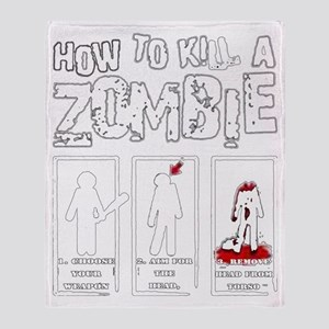 How to kill a Zombie Throw Blanket