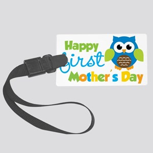 Owl Boy 1st Mothers Day Large Luggage Tag