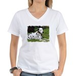 ...Dalmatian 02... Women's V-Neck T-Shirt
