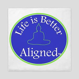Life is Better Aligned tshirt Queen Duvet