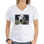 ...Dalmatian 03... Women's V-Neck T-Shirt
