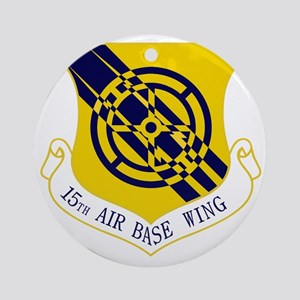15th Air Base Wing Round Ornament