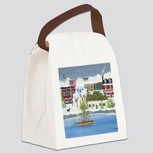 Christmas in Annapolis Canvas Lunch Bag
