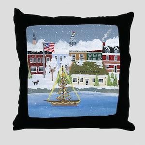 Christmas in Annapolis Throw Pillow