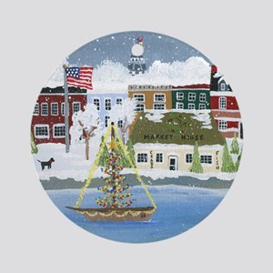 Christmas in Annapolis Round Ornament