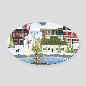 Christmas in Annapolis Oval Car Magnet