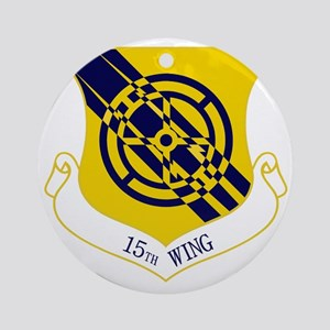15th Wing Round Ornament