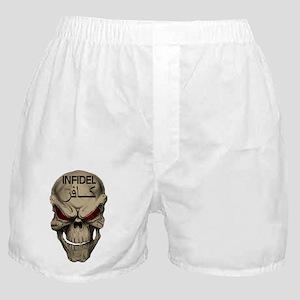 Red Eyed Infidel Skull Boxer Shorts