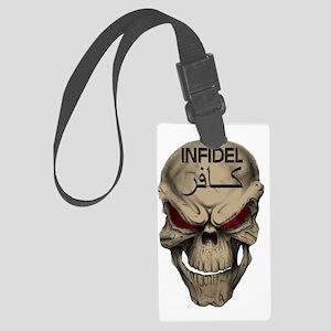 Red Eyed Infidel Skull Large Luggage Tag