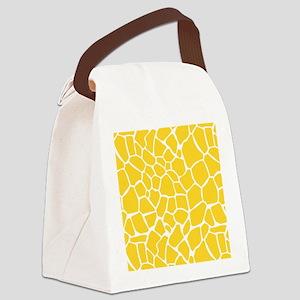 Yellow Giraffe Print Canvas Lunch Bag