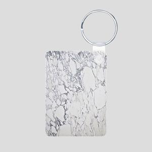Marble Journal Aluminum Photo Keychain