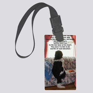 loyalty and devotion Large Luggage Tag
