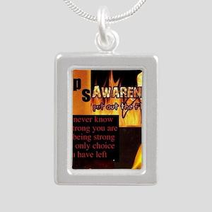 CRPS Awareness Syndrome Silver Portrait Necklace