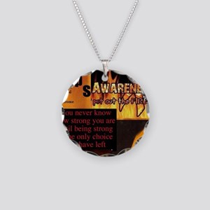 CRPS Awareness Syndrome Necklace Circle Charm