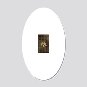Triquetra - iPhone4 and 4S S 20x12 Oval Wall Decal