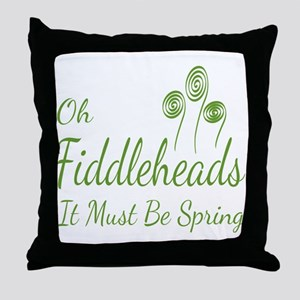 Oh Fiddleheads Throw Pillow