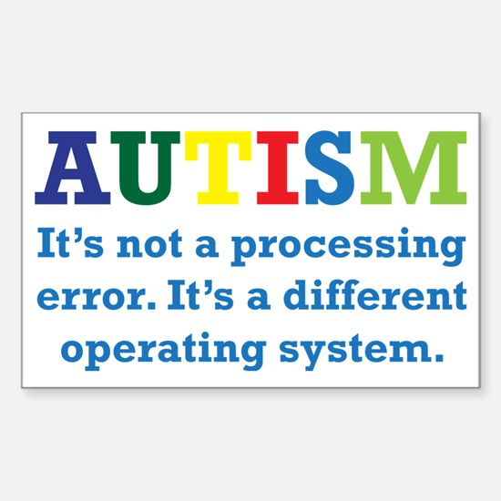 Autism awarness Sticker (Rectangle)