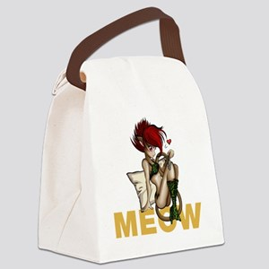 sexy anime catgirl Canvas Lunch Bag