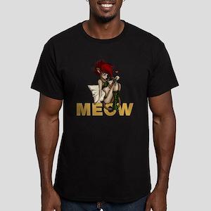 sexy anime catgirl Men's Fitted T-Shirt (dark)