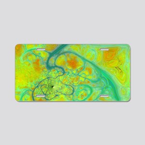 The Green Earth - Abstract  Aluminum License Plate