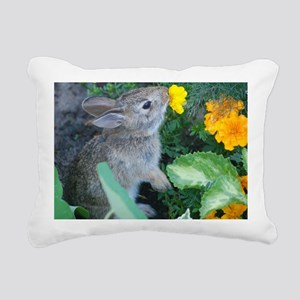 baby bunny Rectangular Canvas Pillow