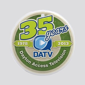 DATV 35th Anniversary Round Ornament
