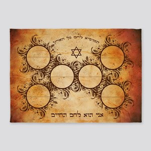Sephardi Bread of Life Hallah Board 5'x7'Area Rug