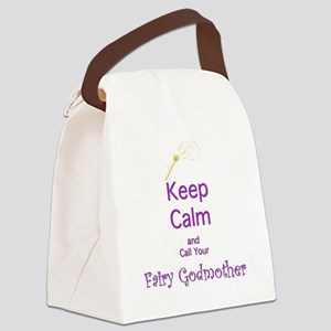 Keep Calm and Call your Fairy God Canvas Lunch Bag