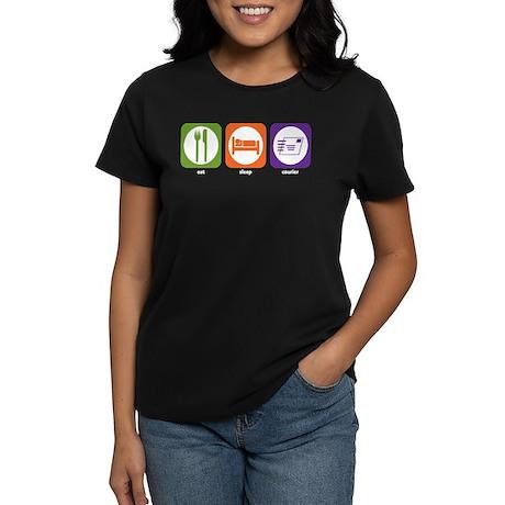 Eat Sleep Courier Women's Dark T-Shirt