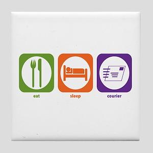 Eat Sleep Courier Tile Coaster