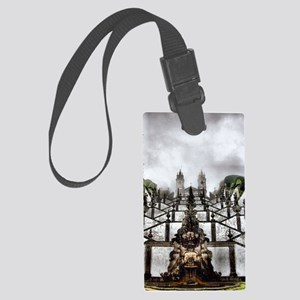 The Baroque staircase of Bom Jes Large Luggage Tag