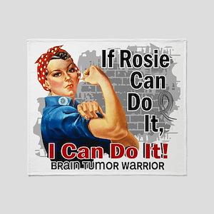 D If Rosie Can Do It Brain Tumor War Throw Blanket