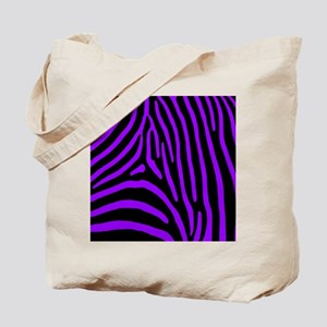 Black and Purple Zebra Stripes Tote Bag