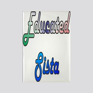 Educated Sista Rectangle Magnet