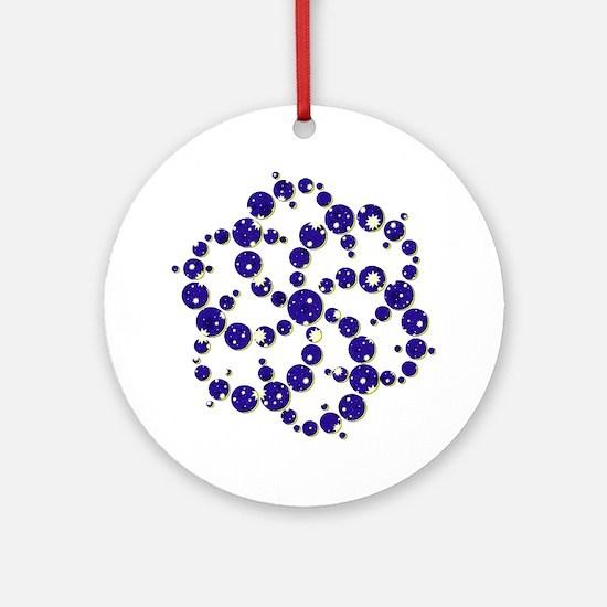 Space Spiral Round Ornament