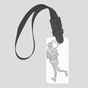 Lacrosse Sayings Small Luggage Tag
