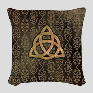 Triquetra Woven Throw Pillow