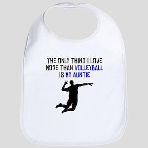 Volleyball Auntie Bib