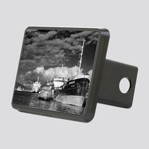 Ships at the harbor Rectangular Hitch Cover
