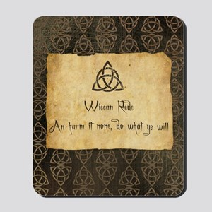 Wiccan Rede Triquetra Mousepad