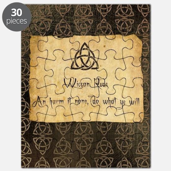 Wiccan Rede Triquetra Puzzle