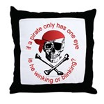 Pirate Humor Throw Pillow