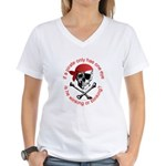 Pirate Humor Women's V-Neck T-Shirt