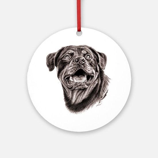 Rottweiler Sketch Round Ornament