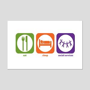 Eat Sleep Social Services Mini Poster Print