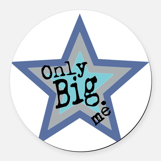 Only Big Official Brand Round Car Magnet