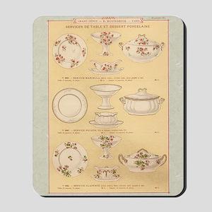 Vintage French Porcelain Mousepad