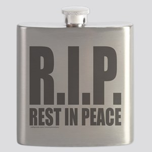 REST IN PEACE R.I.P. T-SHIRTS AND GIFTS Flask