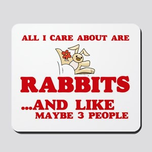 All I care about are Rabbits Mousepad