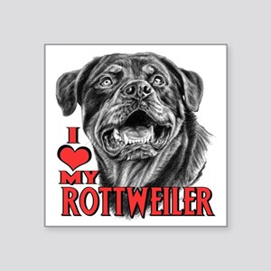 "Rottweiler Sketch Square Sticker 3"" x 3"""